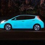 Nissan LEAF, el coche que brilla en la oscuridad.002