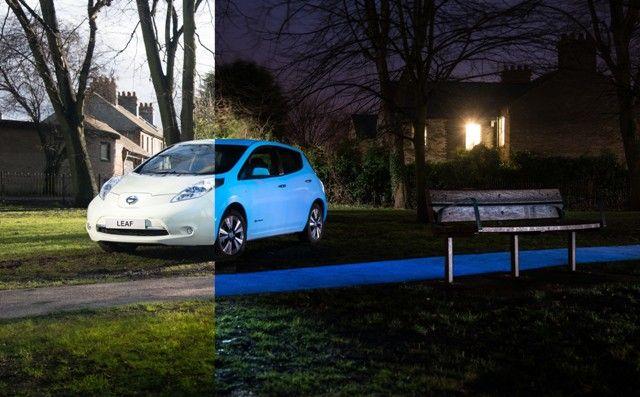 Nissan LEAF, el coche que brilla en la oscuridad.004